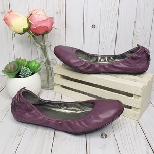 Cole Haan Nike Air Purple Leather Ballet Flats